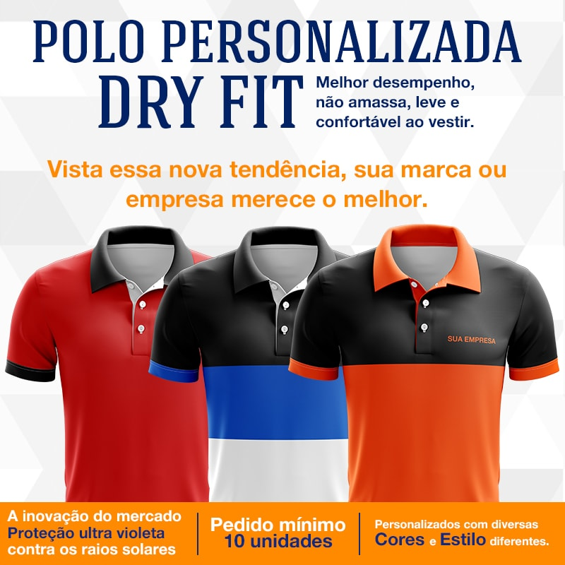 Camisa Polo Dryfit  6eded05bbc6