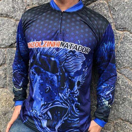 Camisas de pesca esportiva personalizadas