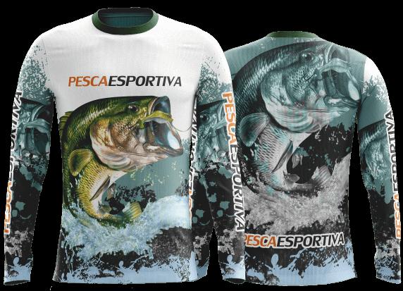 camisa de pesca com proteção uv