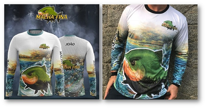 Camisetas para pesca personalizadas