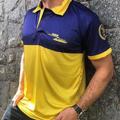 camisa dryfit de gola personalizada
