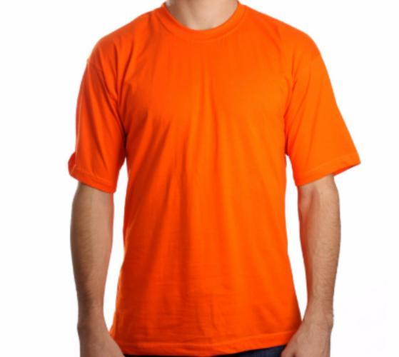 camiseta lisa modelo laranja