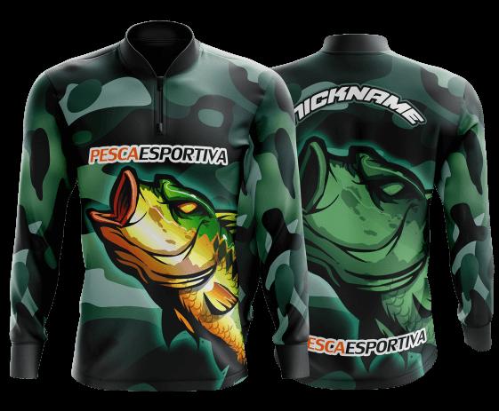 camisa de pesca  masculina