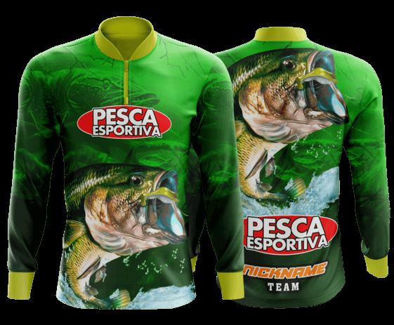 modelo de camisa de pesca personalizado