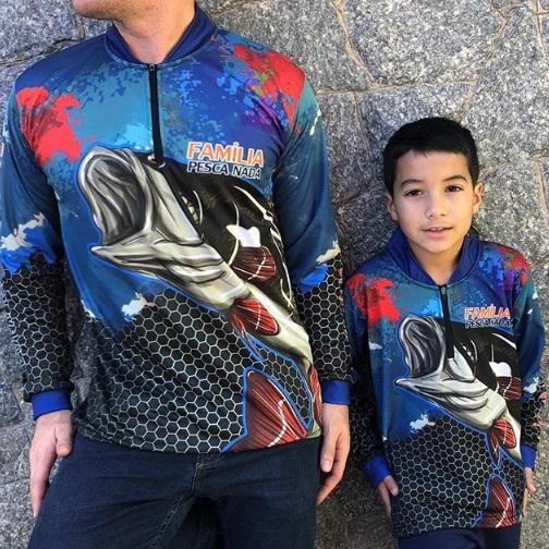 Camisa de pesca infantil personalizada
