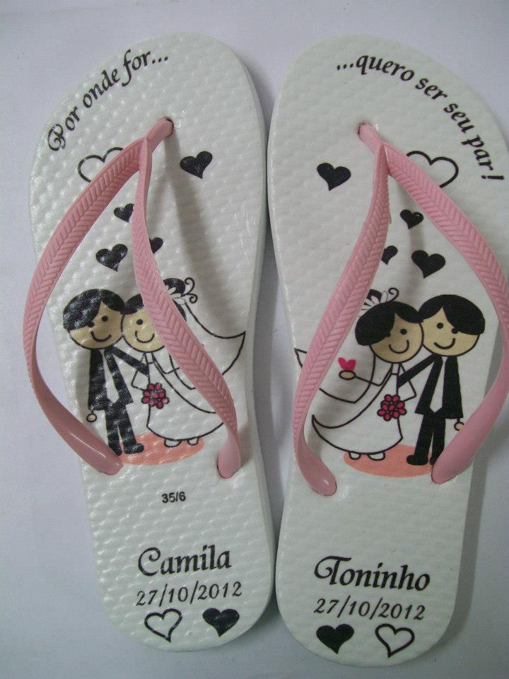chinelo personalizado casamento 5