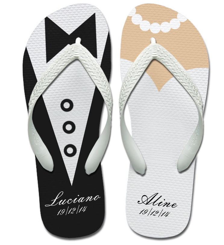 chinelos personalizados casamento 1