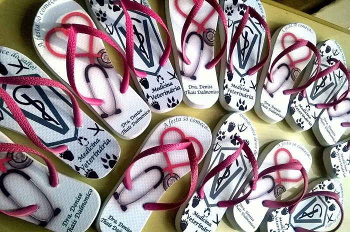 onde comprar chinelos personalizados para formatura