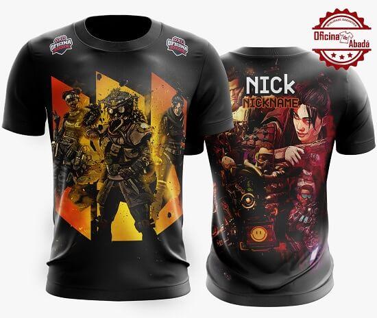 camisa gamer personalizada 13