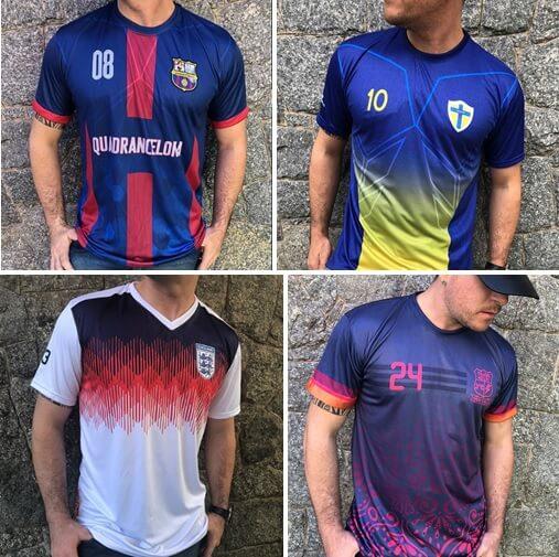 mosaico camisas de time