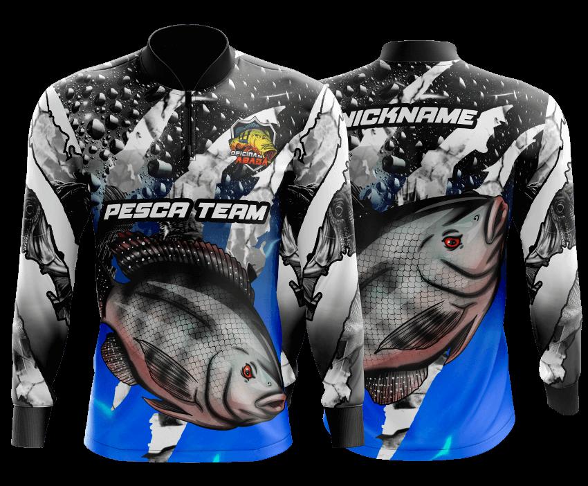 camisa de pesca traira