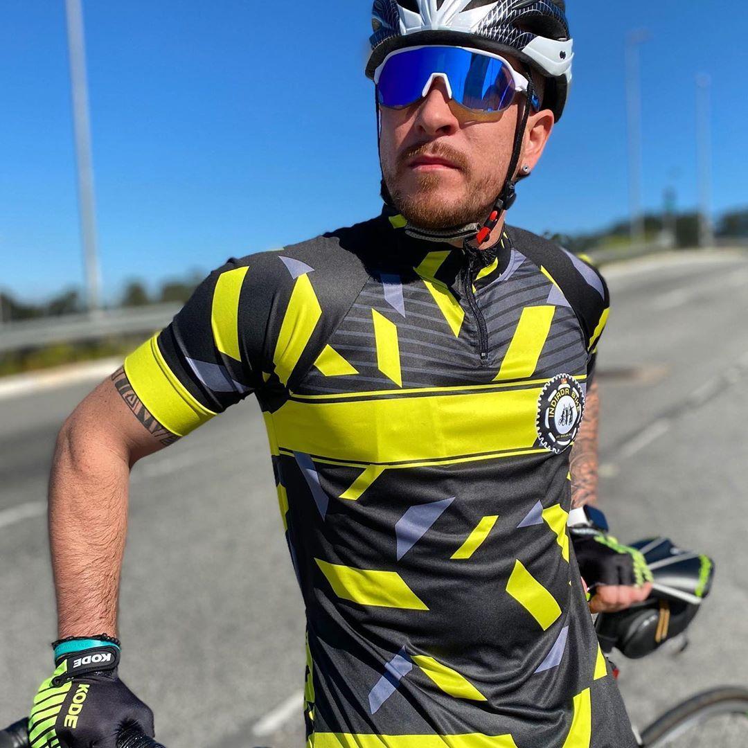 Conjunto roupa ciclismo feminino